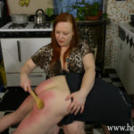Heidee Nytes Gives A Brutal OTK Spanking To Her Husband For Breaking The Stove
